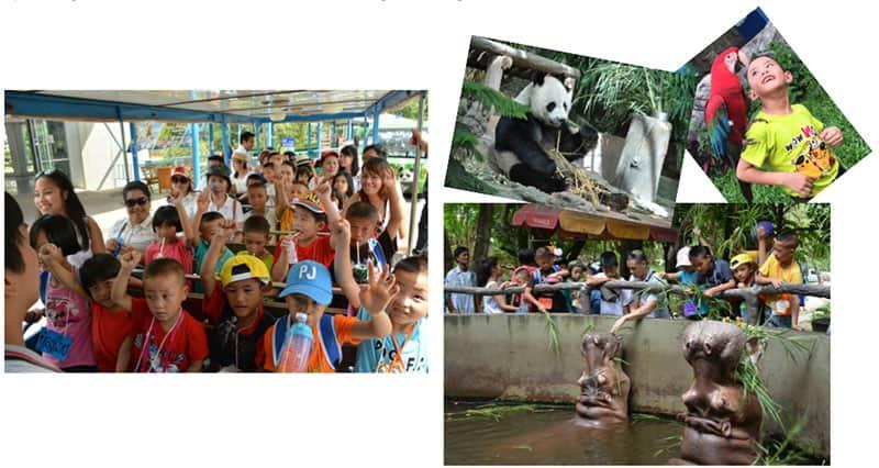 Kids enjoy Chiang Mai Zoo