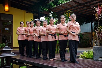 Traditional Thai massage will recharge your body.