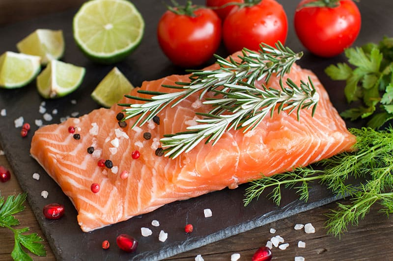 Salmon With Lime And Tomatoes