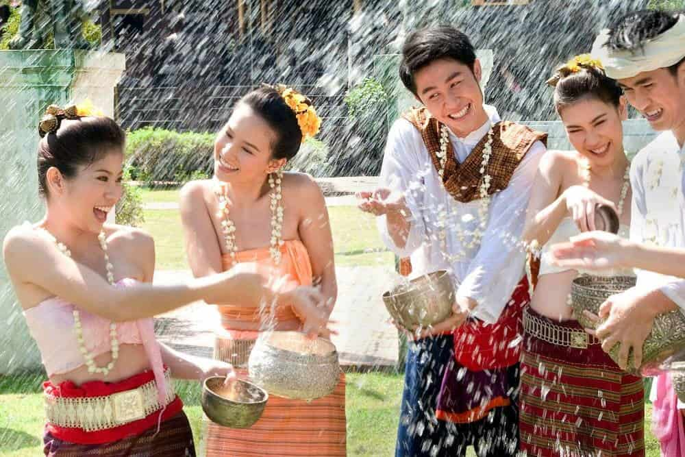 Celebrating Songkran Festival In Chiang Mai 2016.