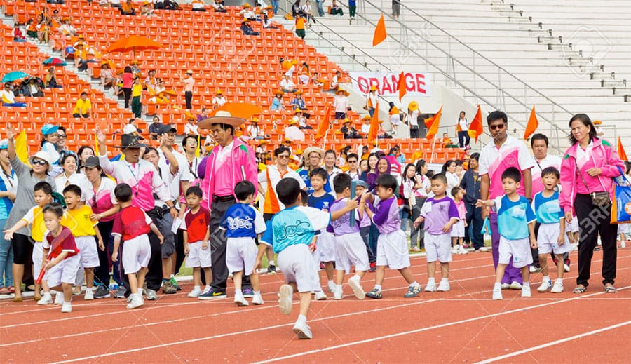 Sports at Childrens Day in Chiang Mai.